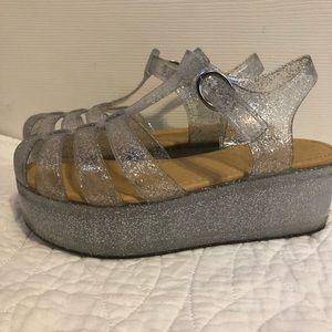Shoes - Platform Jelly Sandals